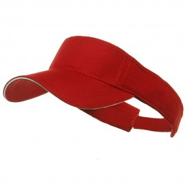 Athletic Mesh Visors-Red