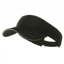 Athletic Mesh Visor- Black