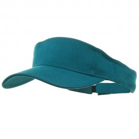 Brushed Sports Visor-Aqua