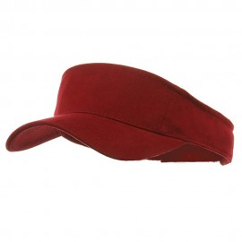 Brushed Sports Visors-Maroon