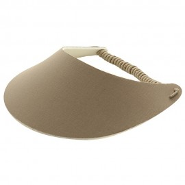 Fabric Foam Visor - Solid Khaki