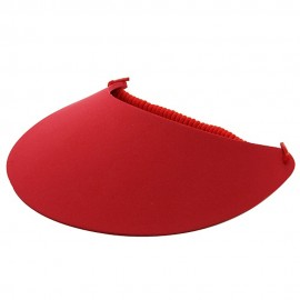 Large Bill Sun Visor - Red