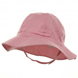 Toddler Check Design Bucket Hat - Pink