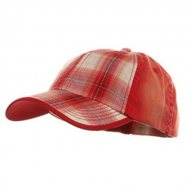 Low Profile Washed Plaid Cotton Cap