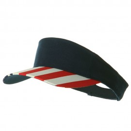 USA Flag Visor-Navy Flag