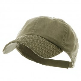 Diamond Plate Washed Cotton Cap - Khaki