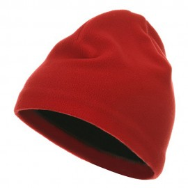 Polyester Lining Fleece Beanie - Red