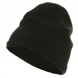 Polyester Lining Fleece Beanie - Black