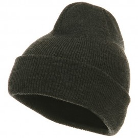 Youth Knit Cuff Beanie - Charcoal