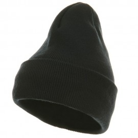 Fleece Lined Cuff Plain Beanie