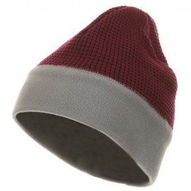 Knit Fleece Combo Beanie