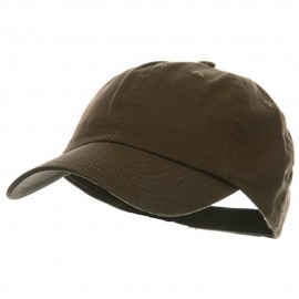 Low Profile Pet Spun Washed Cap - Brown