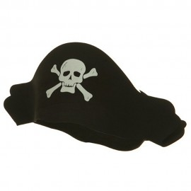 Crushable Black Pirate Hat