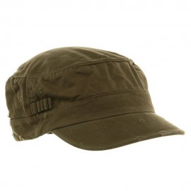Washed Cotton Fitted Army Cap