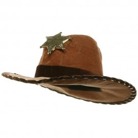 Kid's Sheriff Hat - Brown