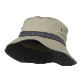 Big Size Reversible Bucket Hats - Khaki Navy