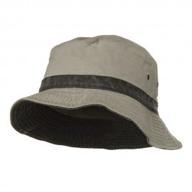 Big Size Reversible Bucket Hats - Putty Black