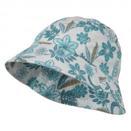 Youth Floral Bucket Hat - Turquoise