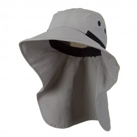 Moisture Management Large Bill Flap Cap - Grey