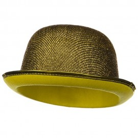 Glitter Derby Hat - Gold