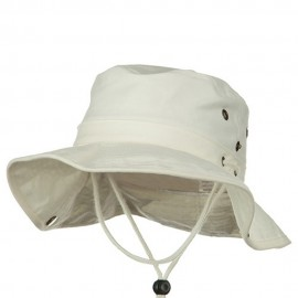Youth Brushed Twill Aussi Bucket Hats - Beige