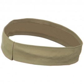 Stretchable Brushed Twill Hat Band - Khaki