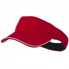 Knitting Stretchable Fitted Visor - Red White