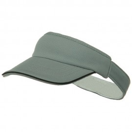 Knitting Stretchable Fitted Visor - Grey Black