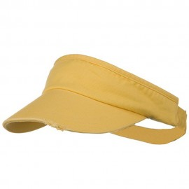 Normal Dyed Frayed Wide Bill Visor - Mango
