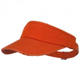 Normal Dyed Frayed Wide Bill Visor