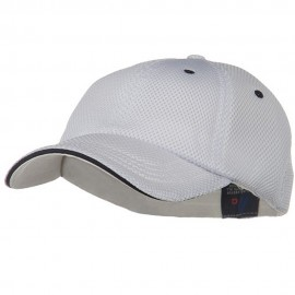 Deluxe Mesh Sandwich Bill Fitted Cap - White Navy