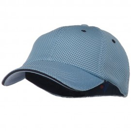 Deluxe Mesh Sandwich Bill Fitted Cap - Blue Navy