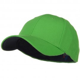 Low Profile Washed Flex Cap - Lime
