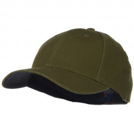 Low Profile Washed Flex Cap - Dark Olive