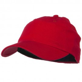 Light Brush Twill Fitted Cap - Red