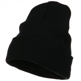 Big Size Acrylic Long Beanies-Black