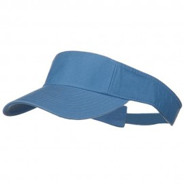 Pro Style Cotton Twill Washed Visor - Light Blue