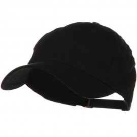 Low Profile Light Weight Brushed Cap - Black