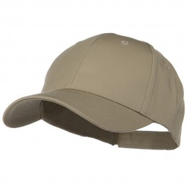 Low Profile Structured PET Spun Cap - Khaki