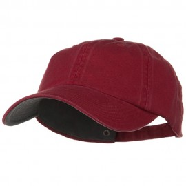 Low Profile Normal Dyed Cotton Cap - Maroon