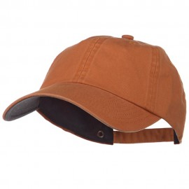 Low Profile Normal Dyed Cotton Cap - Tangerine