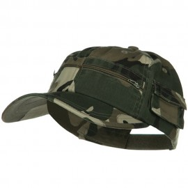 Casual Style Camo Washed Pocket Cap - Safari