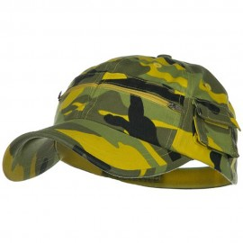 Casual Style Camo Washed Pocket Cap