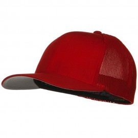 6 Panel Trucker Flexfit Cap - Red
