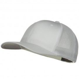 6 Panel Trucker Flexfit Cap - White