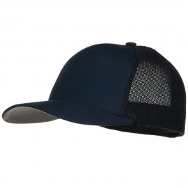6 Panel Trucker Flexfit Cap - Navy