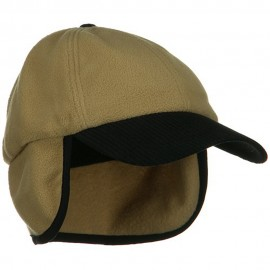 Anti Pilling Fleece Cap with Warmer Flap - Camel