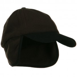 Anti Pilling Fleece Cap with Warmer Flap - Brown