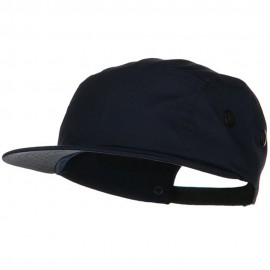 5 Panel Camouflage Twill Cap - Navy