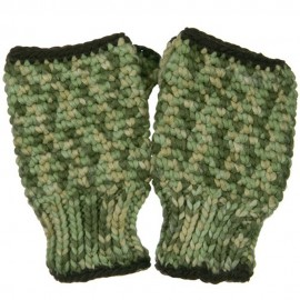 Multi Color Fingerless Glove - Green